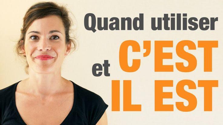 """Quand utiliser """"c'est"""" et """"il est"""" en français - How to use """"c'est"""" and ..."""