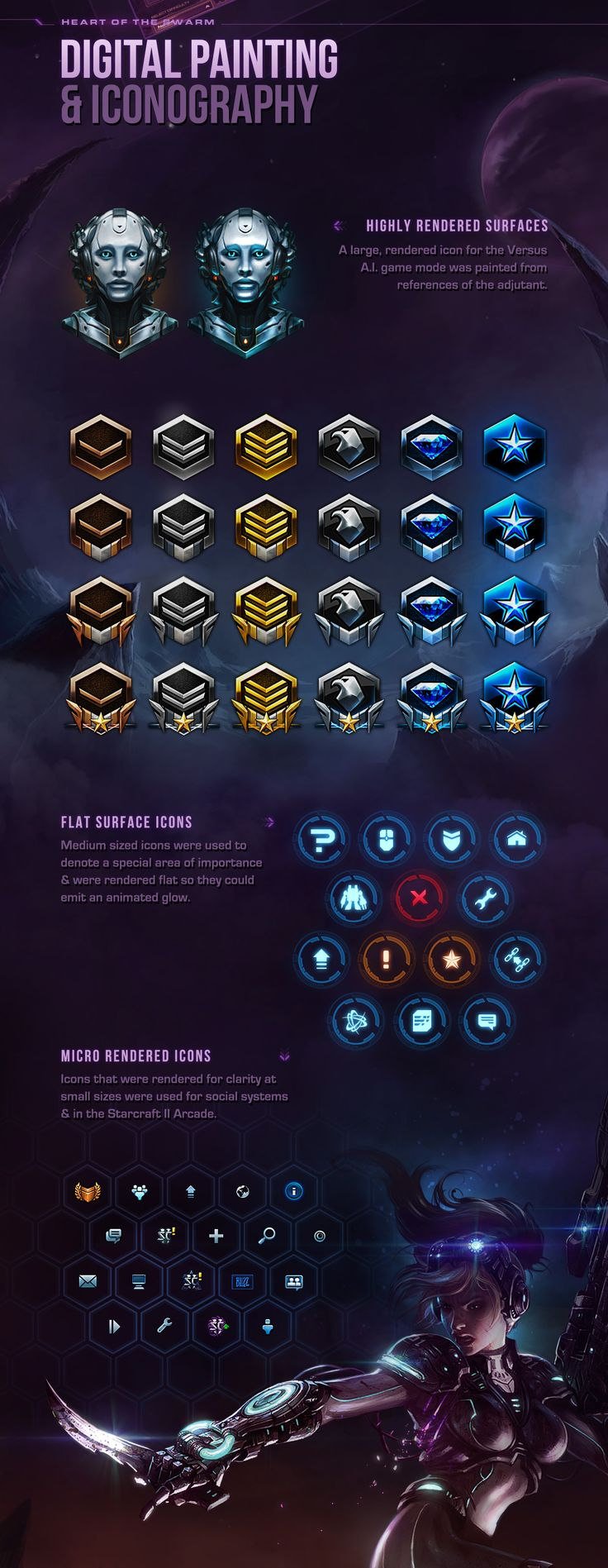 Heart of the Swarm: UI Design & Art on Behance