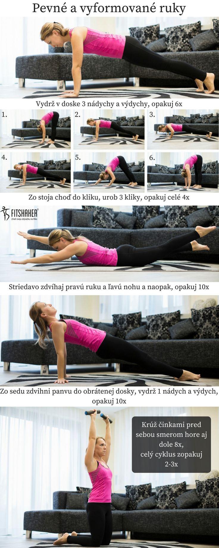 Pilates cvičenie na vyformované ruky