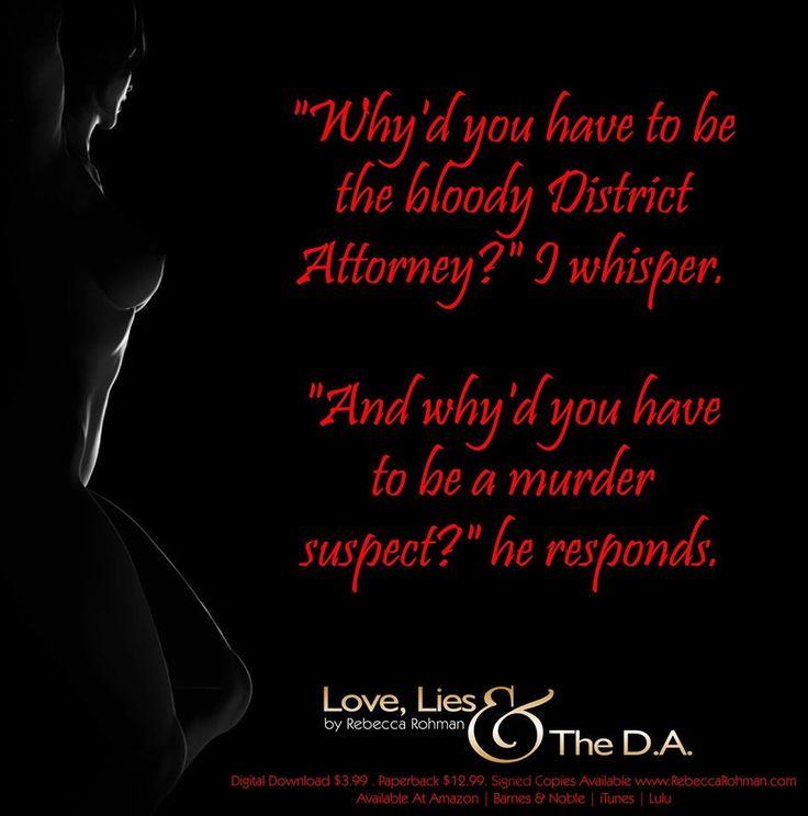 *TEASER* Love, Lies & The D.A. by Rebecca Rohman