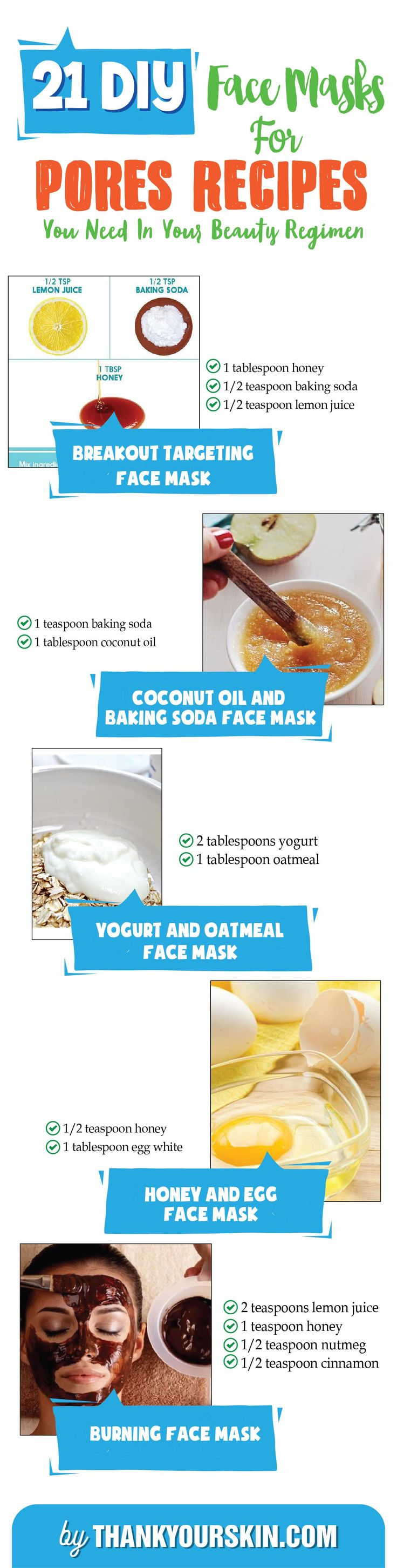 DIY Face Mask for Pores - Easy DIY Pore minimizers that work - Large pores remedies #FaceMaskforPores #PoreMinimizer #ThankYourSkin