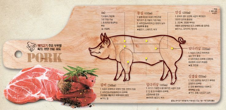 돼지고기 주요 부위별 특징, 영양 성분, 용도