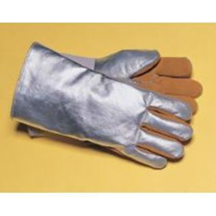 Tillman Large Silver And Brown Leather And Aluminized Rayon Wool Lined Aluminized Welding Glove With Gauntlet Cuff