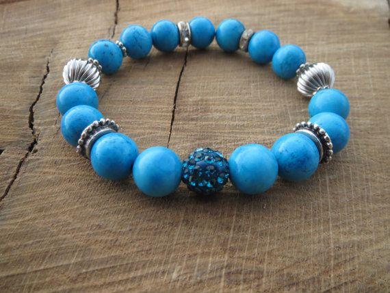 Bohemian Turquoise Bracelet Malaysian by BohemianChicbead on Etsy