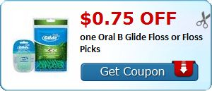 New Coupon!  $0.75 off one Oral B Glide Floss or Floss Picks - http://www.stacyssavings.com/new-coupon-0-75-off-one-oral-b-glide-floss-or-floss-picks-3/