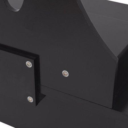 Black Dressing Table Stool Set Bathroom, Brown