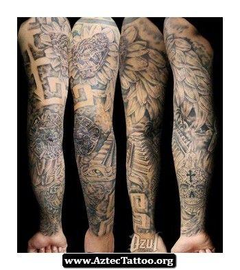 Sleeve Aztec Tattoo 09 - http://aztectattoo.org/sleeve-aztec-tattoo-09/
