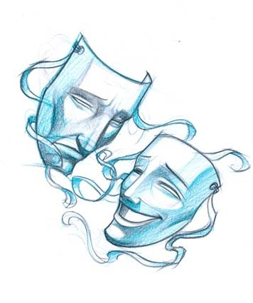 Theatre Masks sketch