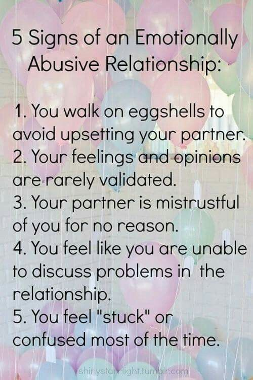 Signs of an emotionally abusive relationship/marriage