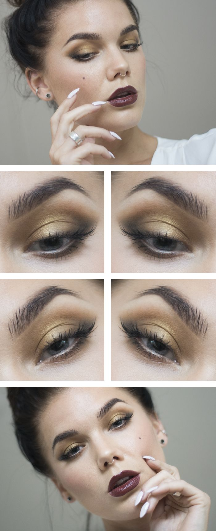 Todays look – Golden plum