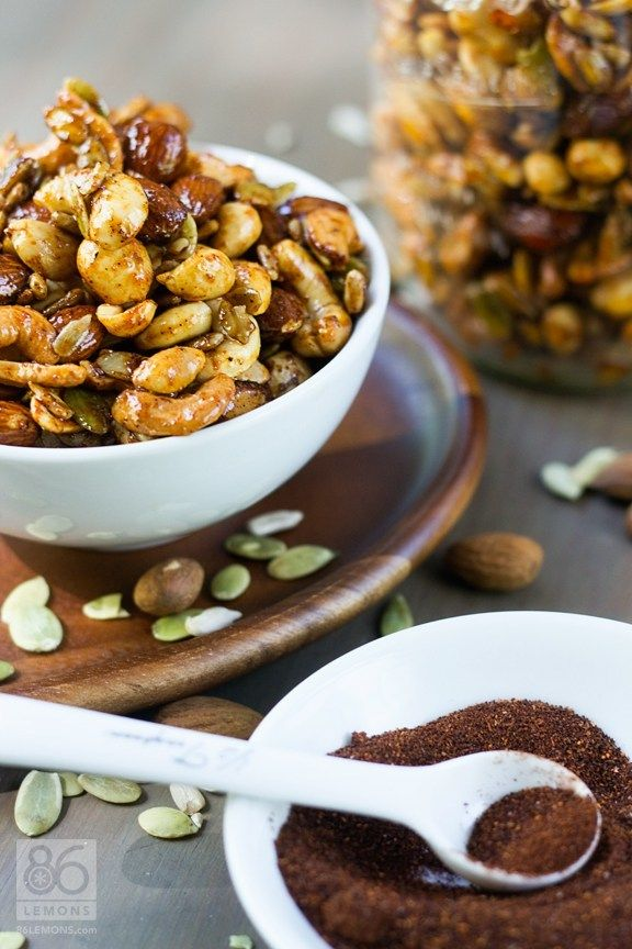 Trade in that handful of almonds for these sweet and savory spicy mixed nuts.