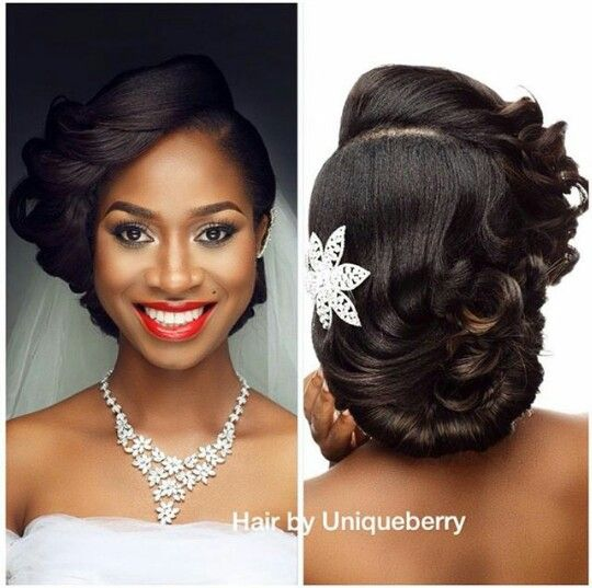 Hairstyles For Black Hair Alluring 8 Best Hairstyles Images On Pinterest  Bridal Hairstyles Wedding