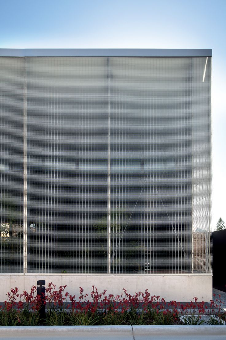 Metal Mesh Screen : Perforated metal screen facade the humanity