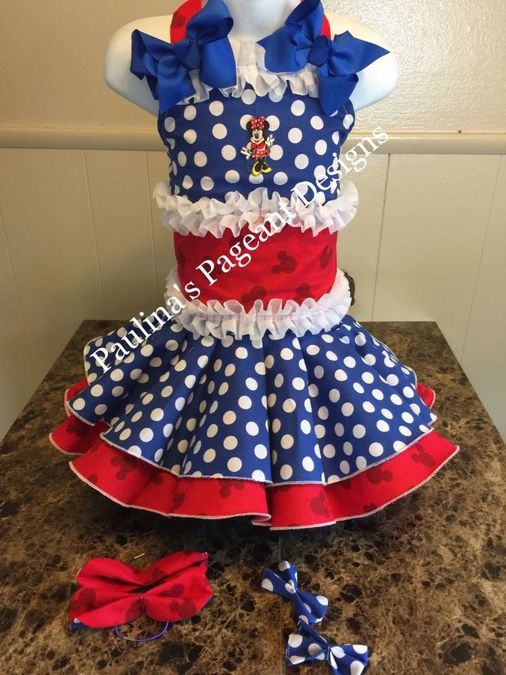 National Pageant Minnie Mouse Casual Wear Dress Back To School Wear 3-5t OOC    eBay
