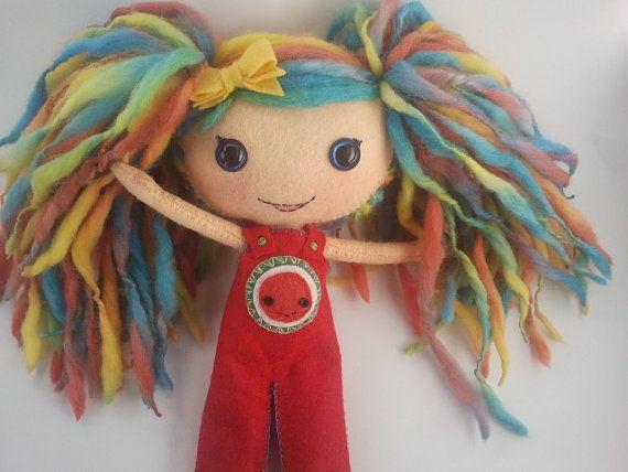 Custom order for Maria  . 100 Wool felt doll by WoollyDollWorX, $49.95
