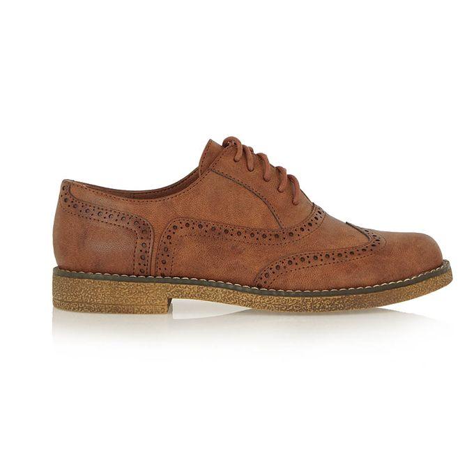 EXE καφέ παπούτσια τύπου oxford   Tsakiris Mallas