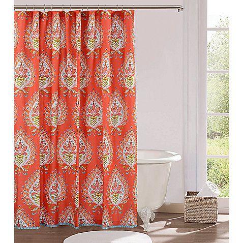 Kalani 72 Inch X Fabric Shower Curtain