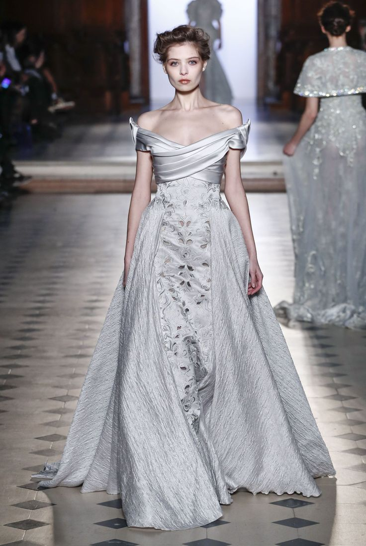 Designer: Tony Ward -- Wedding dress from the spring&summer 2017 couture catwalks on Vogue.co.uk.