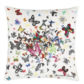 Christian Lacroix Butterfly Parade Opalin Throw Pillow
