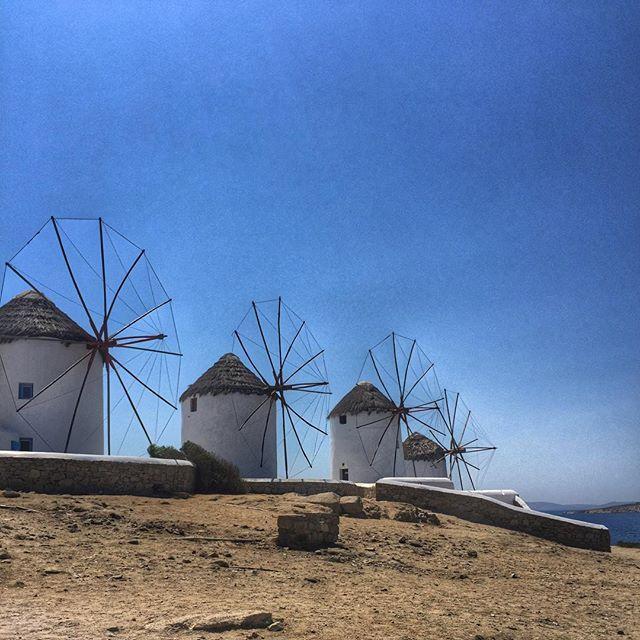 The famous windmills of #Mykonos! #KeyTours  Photo credits: @sinashnash