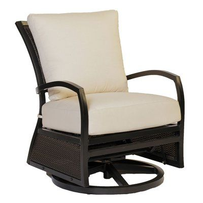 Summer Classics Aire Swivel Glider Chair with Cushions Fabric: Tropical Silhouette Midnight