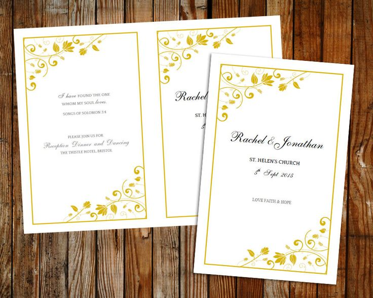 25+ ide terbaik Wedding program template word di Pinterest - microsoft work order template