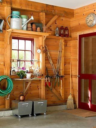 Love This Rustic Garage Storage