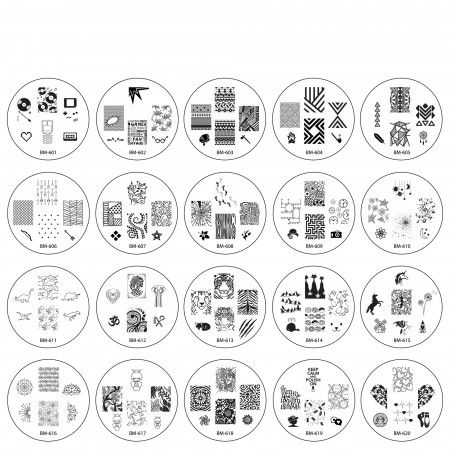 """IT'S FINALLY HERE!!! 2014 """"Create Your Own"""" Collection FULL SET - 20 Nail Plates- $12.99"""