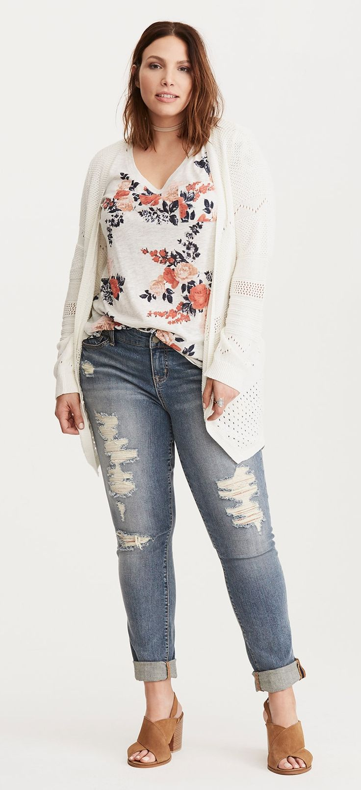 Plus Size Floral Tee