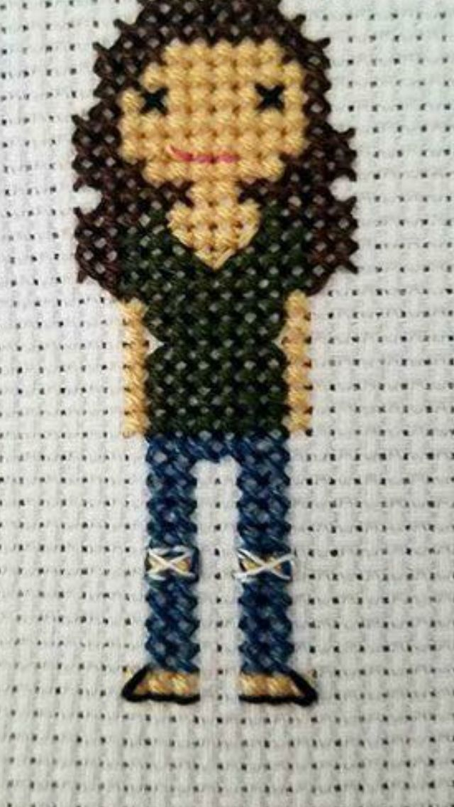 Ripped Jeans Example Cross Stitch Family Diy Cross Stitch