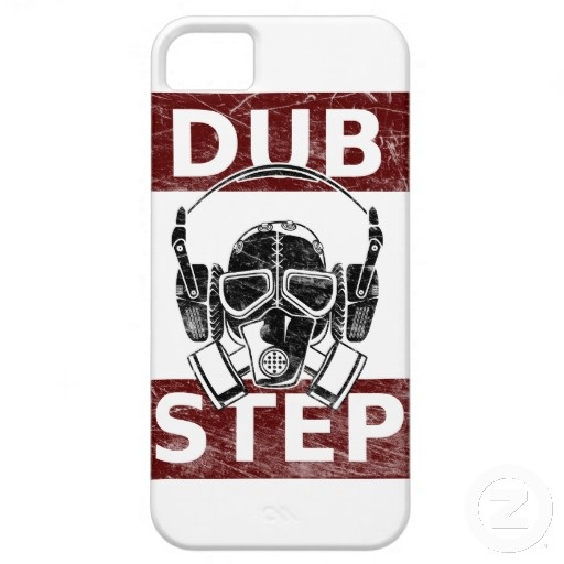 Dubstep gas mask & headphones iPhone 5 cover