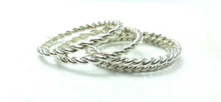 Sterling Silver 925 #Twisted #Wedding Band #Rope #Ring #Stacking Ring All Sizes #Handmade #Band