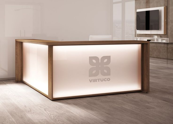the stylish and practical mbrace white reception desk fits perfectly into any reception area customize the look of this modern reception desk with a
