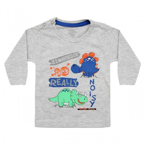 Camiseta de Bebê 100% Algodão Dino – Kiko e Kika :: 764 Kids Loja Online, Roupa bebê e infantil !