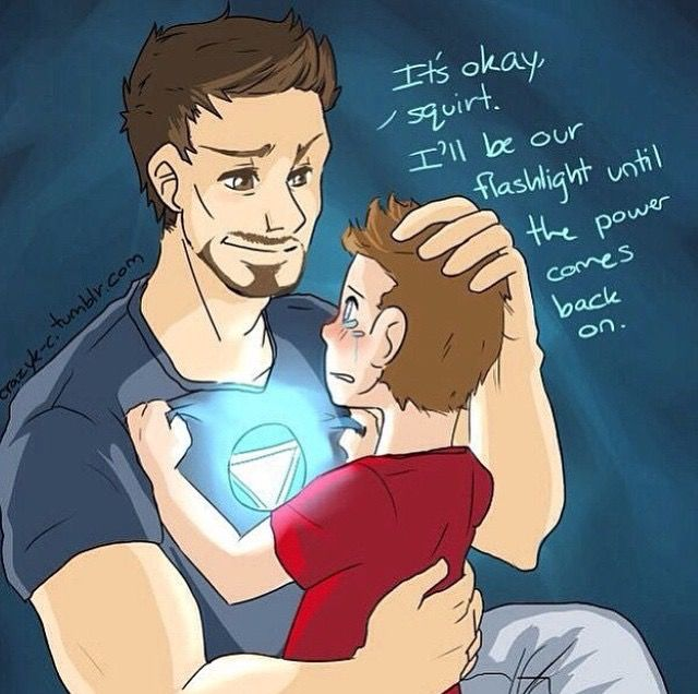 Tony and young!Peter, super cute!