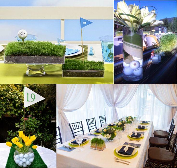 26 Best Golf Themed Wedding Centerpiece Images On Pinterest