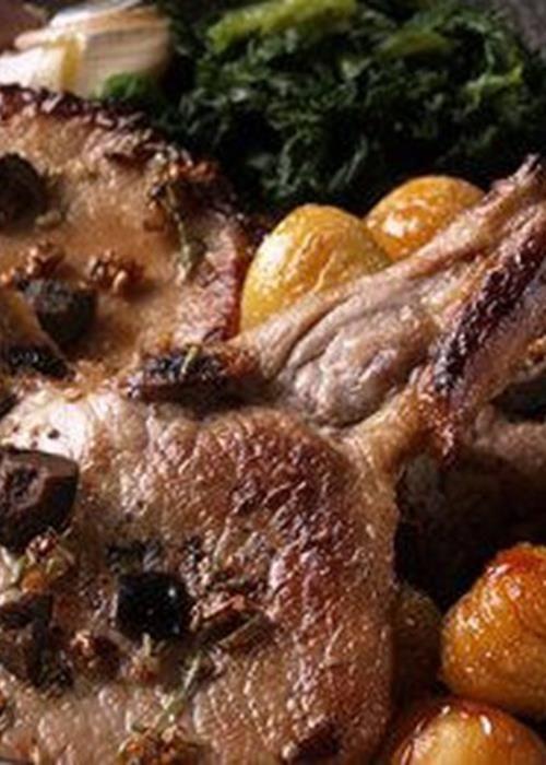 Costeletas de Porco com Castanhas