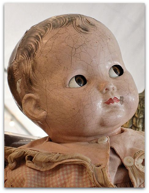 Precious faced dolls.  I had this doll when I was little and still have her head.  Her body was rubber and rotted.