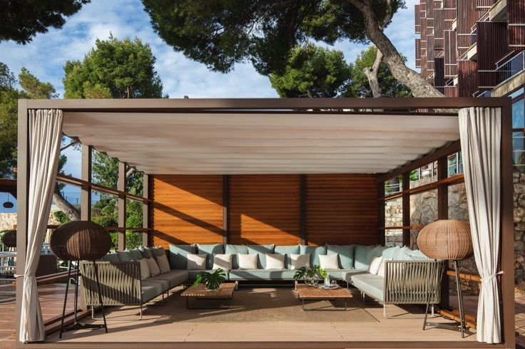 Kettal Projects Gran Melia de Mar #mallorca #project #contract #installation #outdoor #furniture #mueblespiscina #pabellon #pavilion #gazebo #restaurant #outdoorfurniture #design #diseño