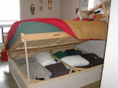 Maybe The Bottom Bunk Can Flip Up Like This For Storage