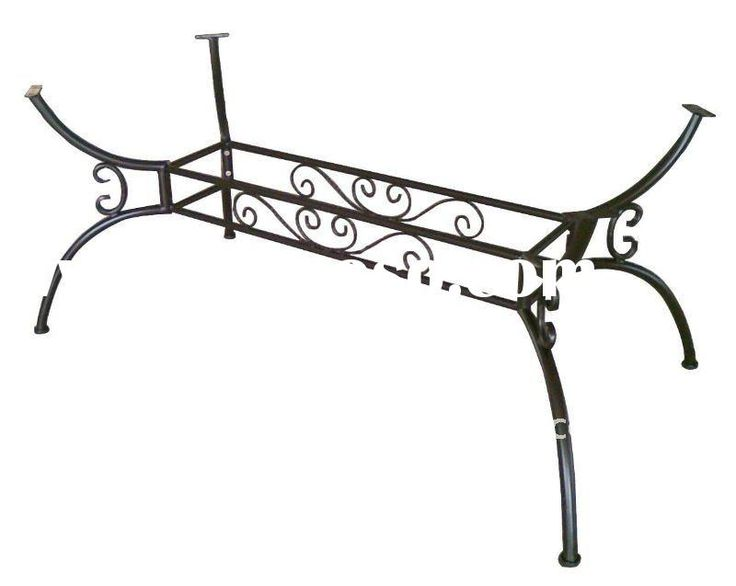 Best 25 wrought iron table legs ideas on pinterest for Rod iron legs