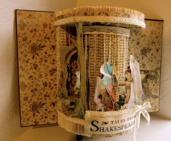 Altered Book Antique Shakespeare Stories by Raidersofthelostart