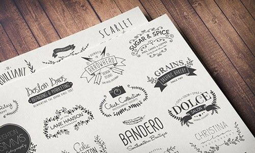 The Hand Drawn Logo Trio (and Bonus Decorative Elements) - Only $19