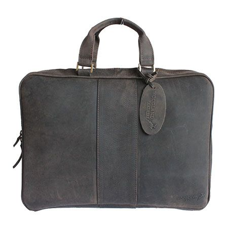 Woodland Leather Distressed Brown Leather Business Laptop Bag