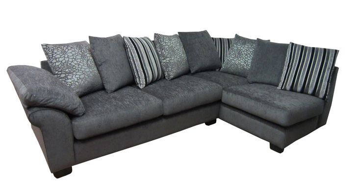 Monaco left arm pillow back corner sofa. All our corner sofas are made to measure and can be done in a fabric of your choice.  View our different styles on our website.  http://drumbristonfurniture.ie/cornersofas.html