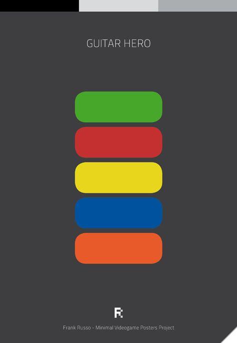 Affiches minimalistes de jeux vidéos Affiche Minimaliste Jeu Video 16 geek design bonus