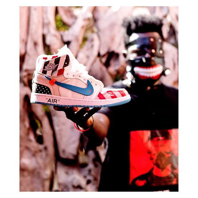 c89f31ec90 #FNMSNEAKERCULTURE Sneaker description : Piet Parra x Off-White x Air  Jordan 1 Mache Custom 2018 . Legit Size available: 44 #youcanwearfnmwitnike  ...