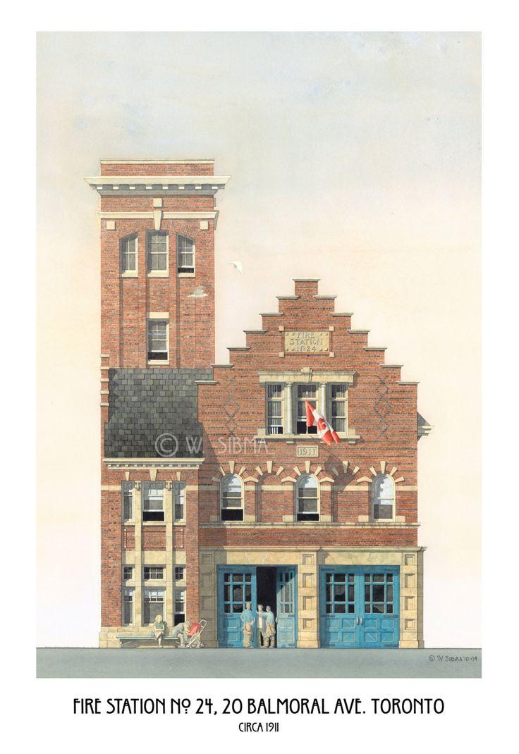 Fire Station Art Toronto Hall No. 24 Balmoral by WaltsTSquare