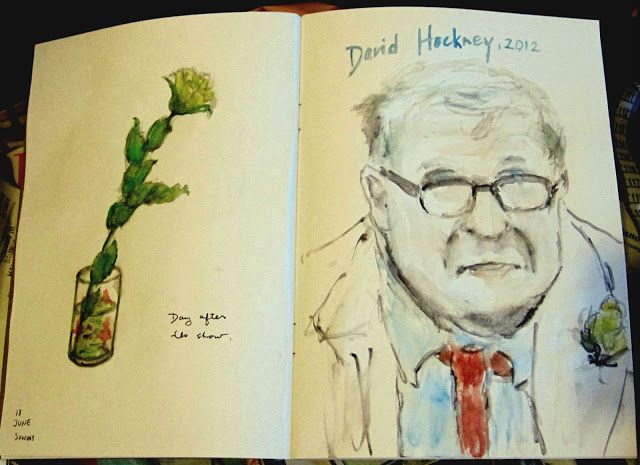 it is all in the book!: Yellow Rose and Hockney.