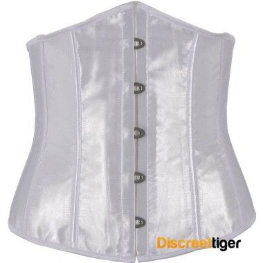 ANTIQUE WHITE SATIN UNDERBUST CORSET @discreettiger #vintagewhite #underbust #cincher #plussize #corsetop #weddingday This antique white satin style corset is simple and beautiful. http://www.discreettiger.com.au/corsets/underbust-corsets